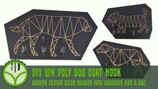 DIY low poly dog leash hanger or coat hook