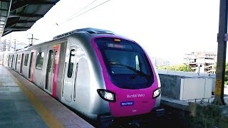 MUMBAI METRO TRAIN RAIL ARRIVAL & DEPARTURE COMPILATION INDIA 2014 [FULL HD]