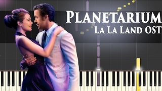 La La Land OST - Planetarium - Piano Tutorial