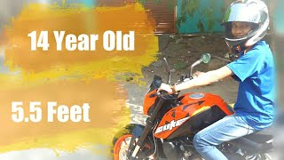 can a 14 year boy ride the ktm duke 200?