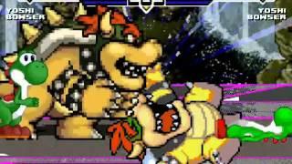 New Yoshi & New Bowser vs Old Yoshi & Old Bowser MUGEN Battle!!!