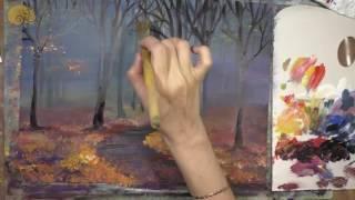 Рисуем Осень - ускоренная демонстрация 3-х осенних видео мастер-классов Юлии Ромас