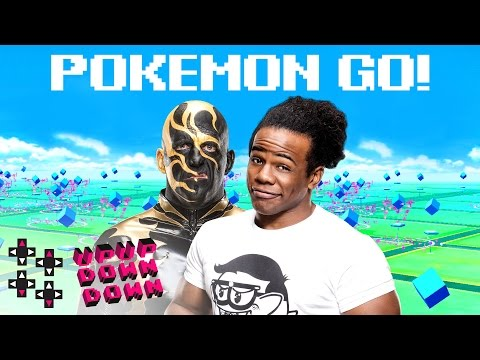 Playing Pokémon Go w/ Goldust backstage at SmackDown Live! — Expansion Pack