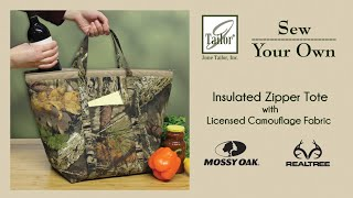 Camouflage Insulated Zipper Tote Sewing Kit
