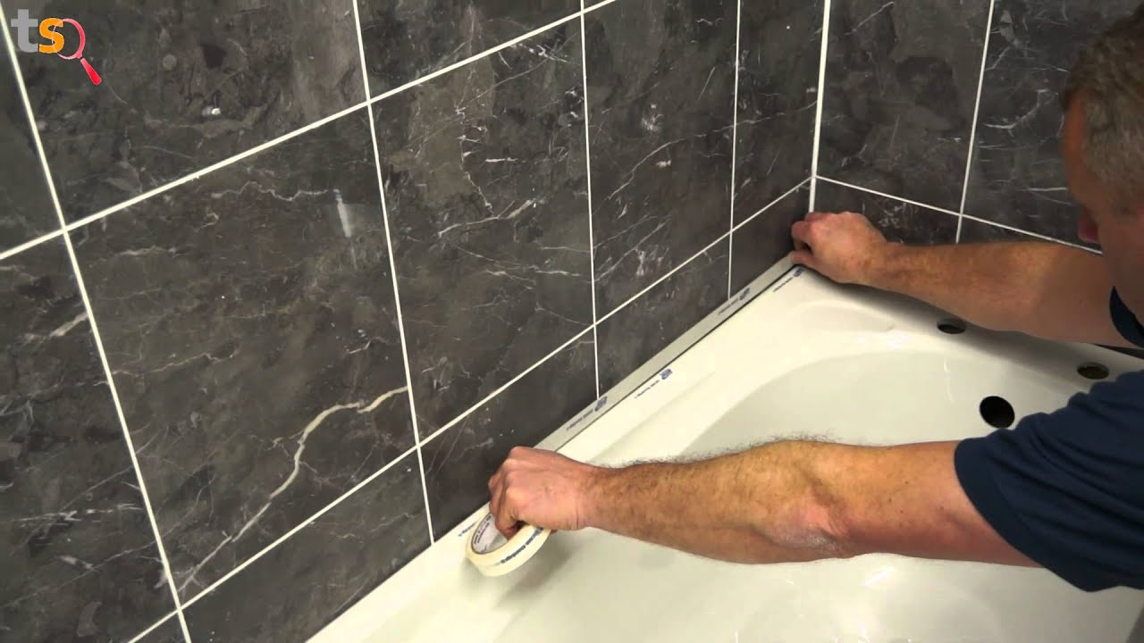 Tommy\'s Trade Secrets - How to Silicone a Bath - YouTube