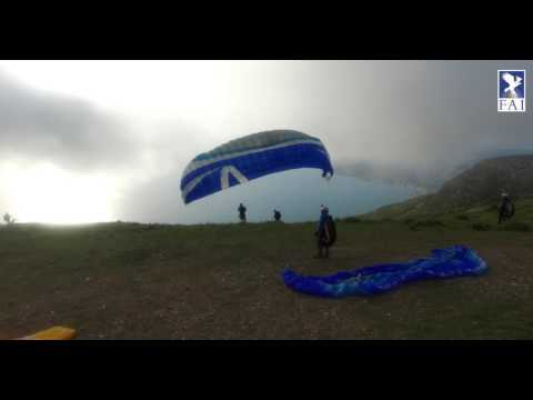 Training day 1 at the FAI World Paragliding Accuracy Chps 2017 in Albania