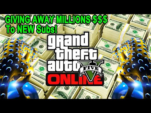 GTA 5 Giving Away MILLIONS To NEW Subs + Races (85% Heist Giveaway) #gta5