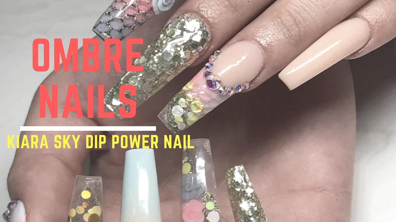 French Ombre Nail Tutorial | How I Use Kiara Sky Dip Powder To Make ...