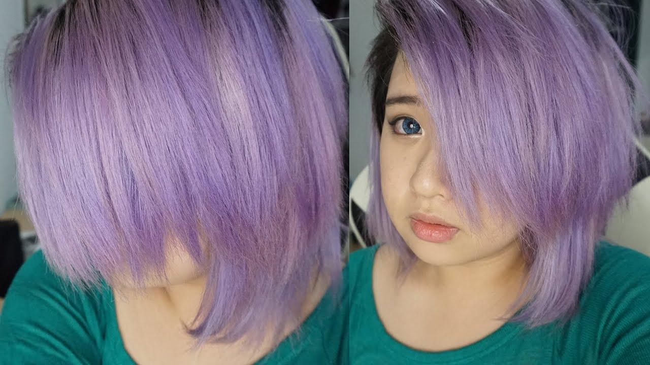 getting lavenderlilac hair youtube