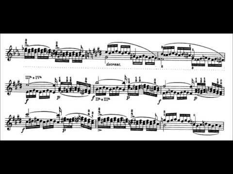 Niccolò Paganini - Caprice for Solo Violin, Op. 1 No. 8 (Sheet Music)