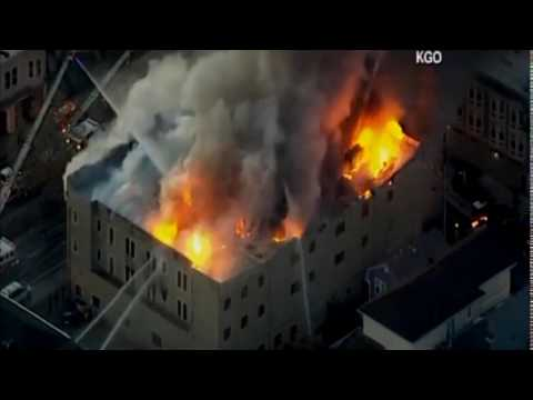 Large Structure Fire in Oakland, California  3-27-17