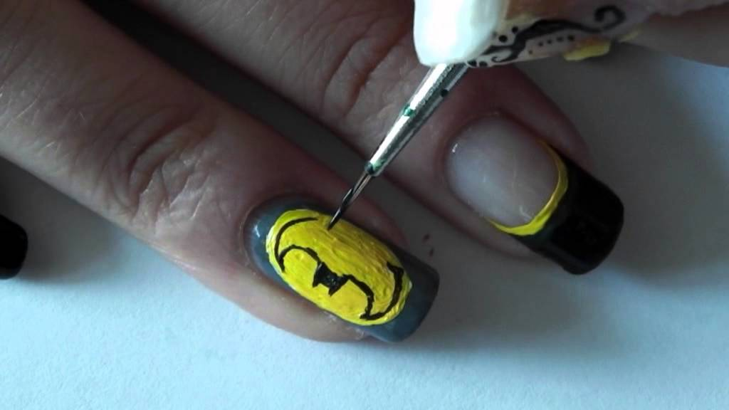*SuperHero's No.1* Batman Nail Art Tutorial *no music :( * - YouTube - SuperHero's No.1* Batman Nail Art Tutorial *no Music :( * - YouTube