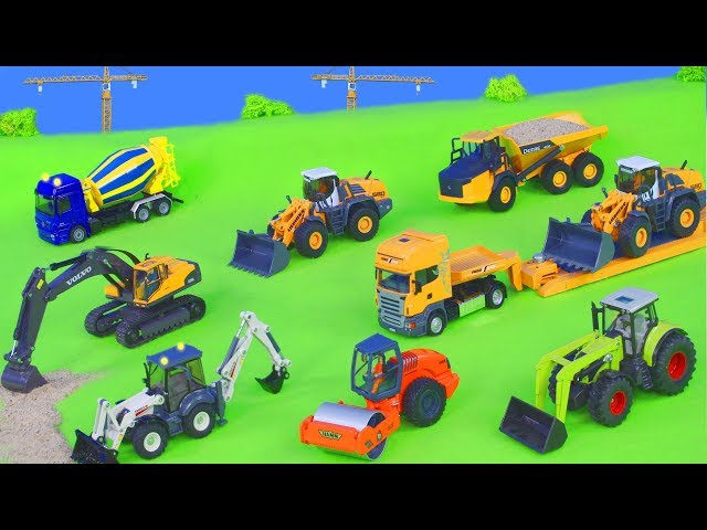 Spielzeug Baufahrzeug LKW// Bagger// Schwerlastkran Betonmischer 1:38 Neu
