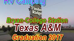 RV Camping College Station Texas At Timber Ridge RV Park For TAMU Graduation