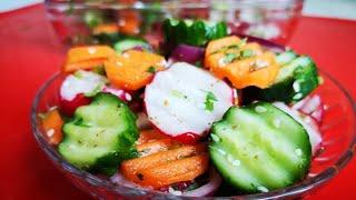 Bu salatni hech qanday siri yoq)))) Салат диетический