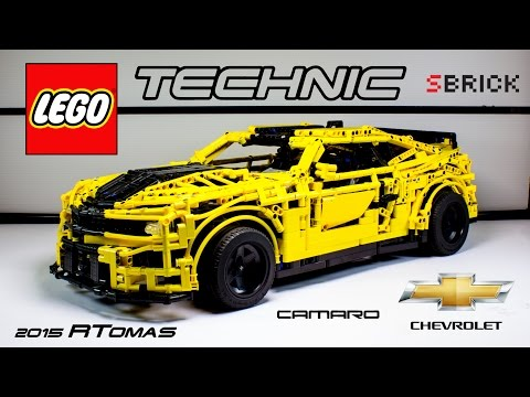 MOC Lego Technic Chevrolet Camaro 2015 with SBrick