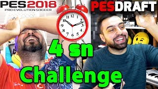 4 SANİYEDE TAKIM SEÇME CHALLENGE! | PES 2018 PESDRAFT