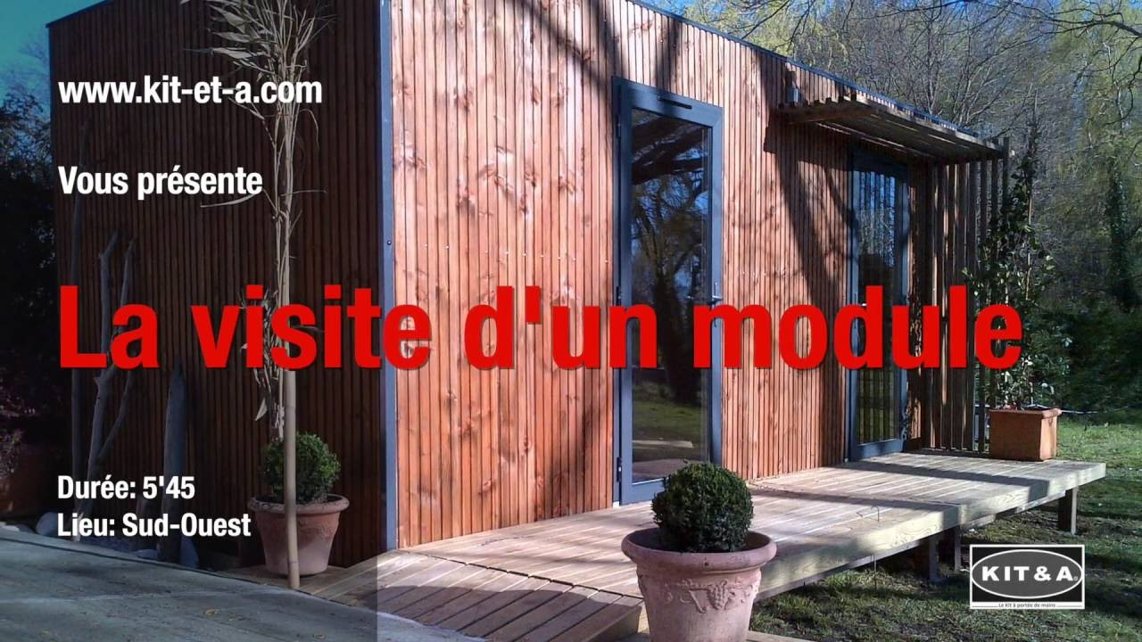 la visite d 39 un studio de jardin en kit youtube. Black Bedroom Furniture Sets. Home Design Ideas