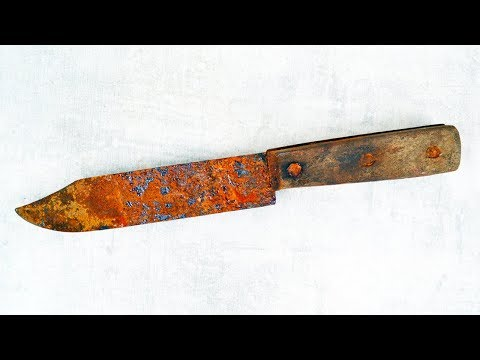 Old Rusty Camping Knife Restoration