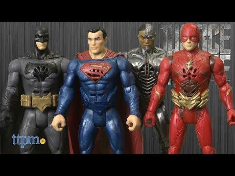 Justice League Interactive Talking Heroes Batman, Superman, The Flash & Cyborg from Mattel