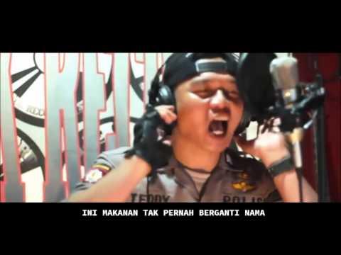 Heboh!! Polisi Nge-Rap Lagu Tahu Bulat