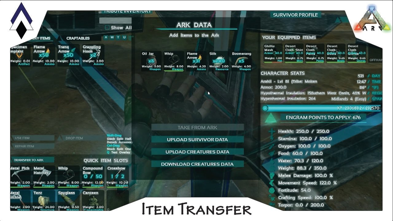 How to transfer items between ark servers cross ark transfer how to transfer items between ark servers cross ark transfer transmit ark data and items youtube malvernweather Choice Image