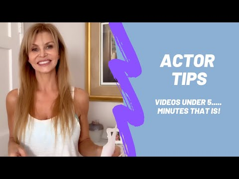 Acting Tips: Intro