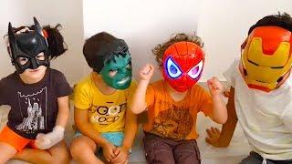 kids play superhero