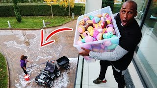 TIANA'S SQUISHY TOYS DROP TEST PRANK!!