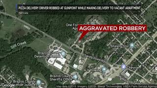Pizza delivery driver robbed at gunpoint while making delivery to vacant apartment