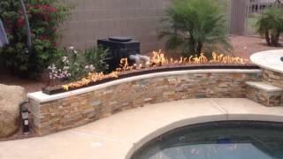 Arizona Backyard Custom Fire Pit