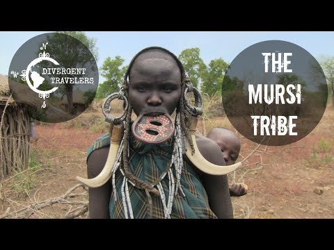 The Mursi Tribe ( Large Lip Plates ) Omo Valley, Ethiopia Africa
