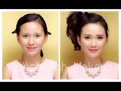 Trang điểm ngọt ngào với tông cam - Lovely girl with orange makeup ( Quách Ánh )- with Eng Sub