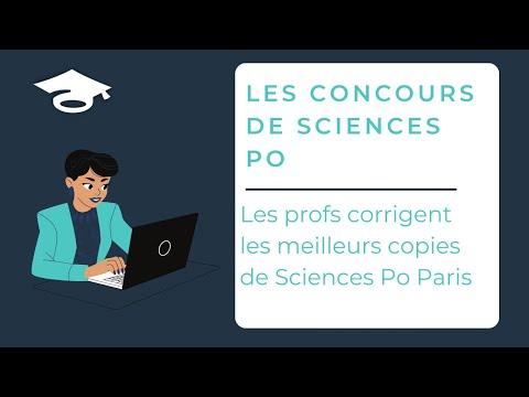 Les profs des Cours du Parnasse corrigent les meilleurs copies de Sciences Po Paris