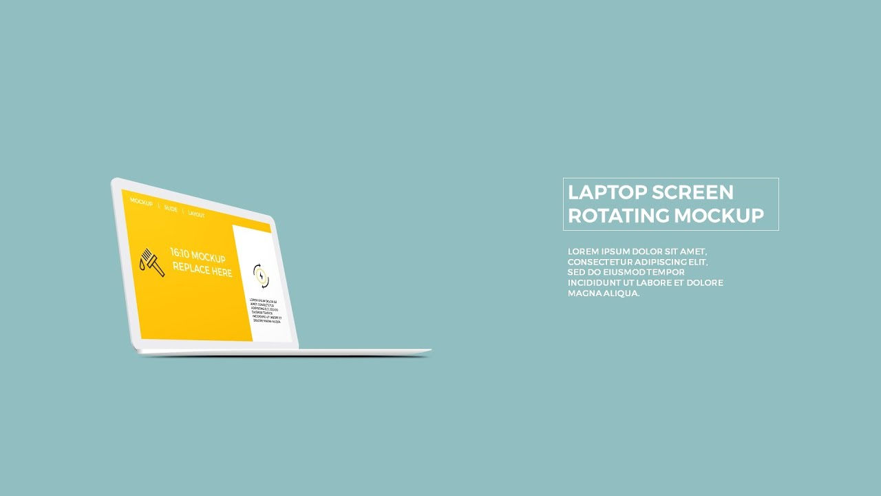 Laptop screen rotating mockup in powerpoint youtube ccuart Choice Image