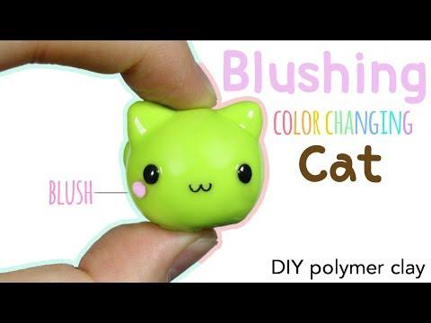 How to DIY Kawaii Blushing Cat Polymer Clay/Uv Pigment Tutorial (ft. Elves Box)