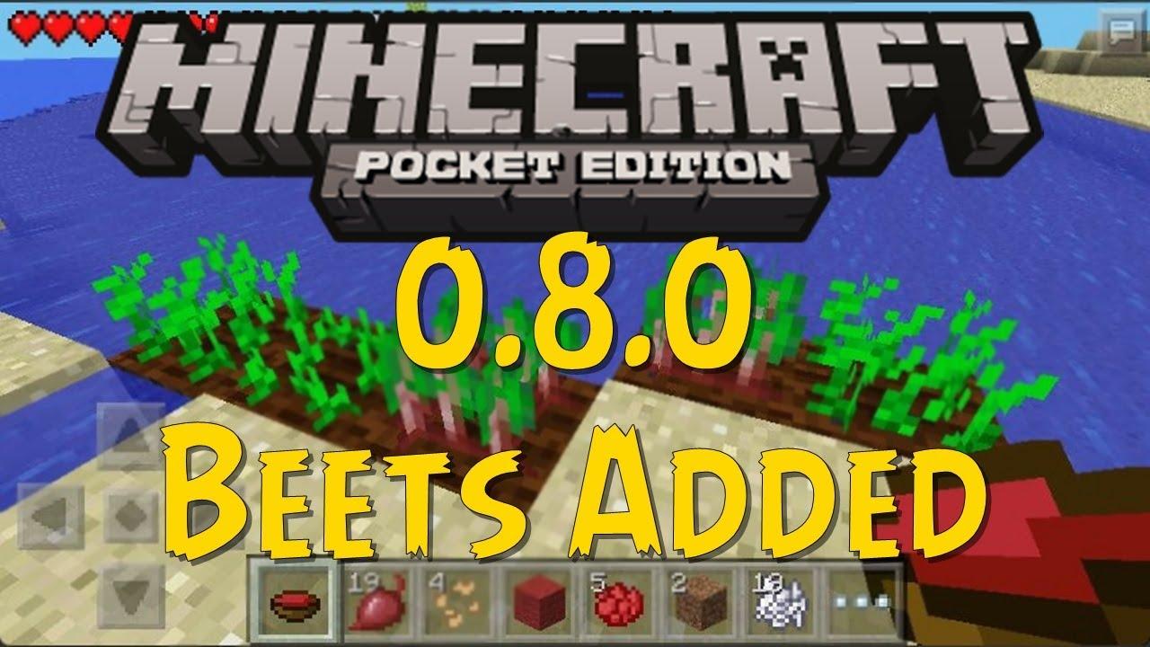 Minecraft PE - 0.8.0 - Beets Added! Beet Dye, Beet Soup ...