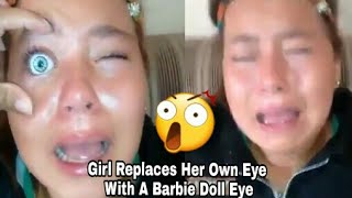 Video Girl Replaces Her Own Eye With A Barbie Doll Eye😱 Viral Video download MP3, 3GP, MP4, WEBM, AVI, FLV November 2017