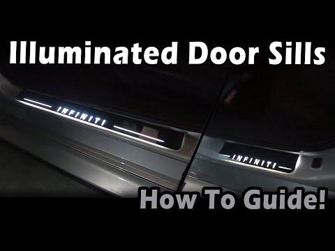 How to: Install aftermarket Infiniti Q50 Illuminated Door Sills