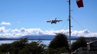 Flying Over Channel Of Beagle, Landing To Puerto Williams Airport, Bae 146 Aerovías Dap.