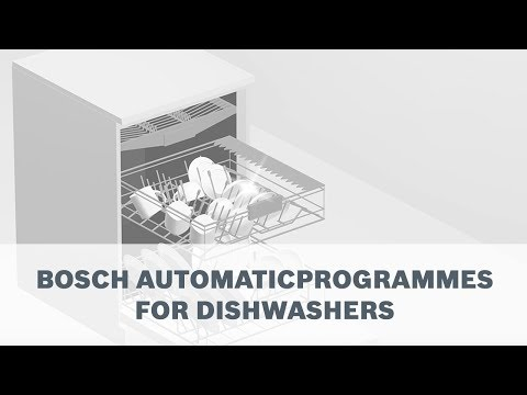 Bosch Automatic Programmes - Save Energy With Perfect Dish Rinsing
