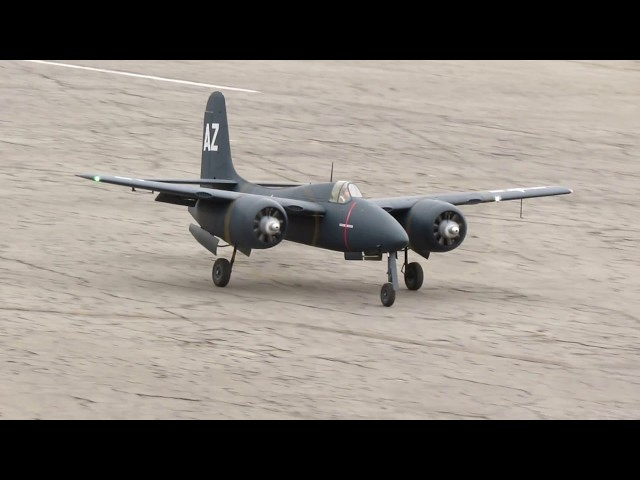 Grumman F7F Tigercat.  Simi Valley Flyers Club (Airfield)