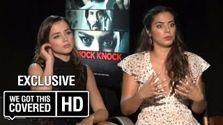 Exclusive Interview: Lorenza Izzo and Ana de Armas Talks Knock Knock [HD]