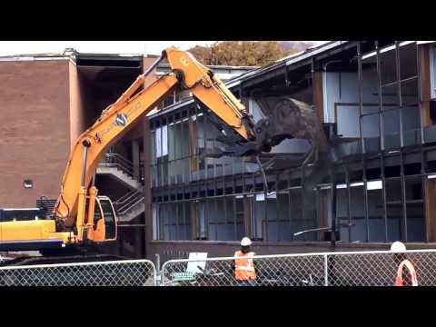 Excavator Demolishing Building - For Kids - Classical Music