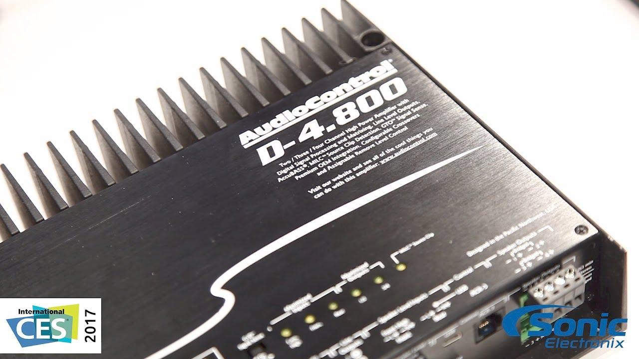 Audiocontrol D 4 800 Multi Channel Amp W Dsp Control Accub Ces 2017 You