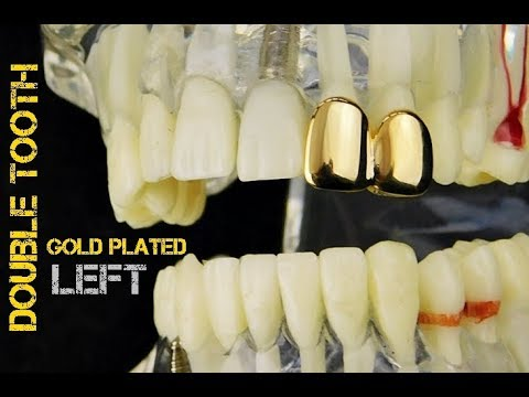 Bling Grillz Gold Plated Top Row open /& closed tooth Hiphop Bling Bling Gril