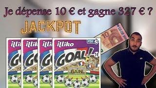 JE GRATTE DES JEUX - JE DEPENSE 10€ ET GAGNE 327€ ?