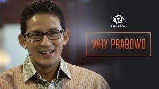 Why Prabowo? Sandiaga Uno talks to Rappler