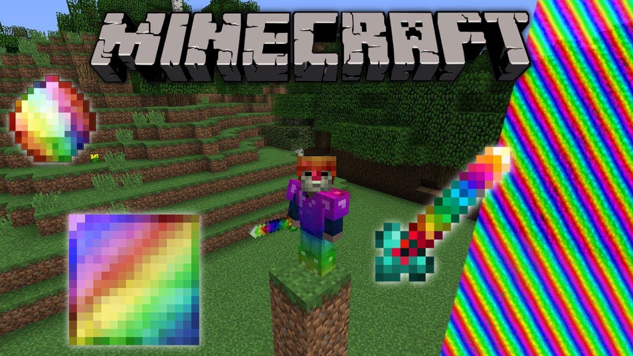 RAINBOW MOD Minecraft Spectrite Mod Deutsch YouTube - Minecraft nutzliche spielerkopfe