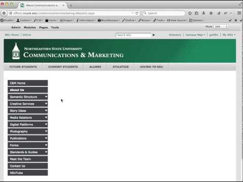 NSU DNN: Updating Current Page via Control Panel